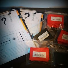 Mystery murder party kit