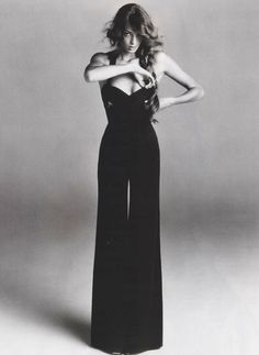 Bustier top and wide leg trousers! Class-A!