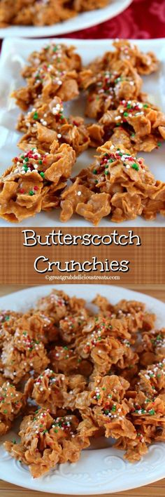Butterscotch Crunchies Holiday Treats, Christmas Treat Gifts, Holiday Baking Ideas Christmas, Easy Christmas Baking Recipes, Christmas Party Desserts, Christmas Deserts Easy, Easy Holiday Desserts, Christmas Love, Christmas Foods
