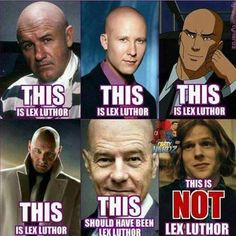 not true. the original lex luthor was a redhead but his hair was omitted in a panel and the creators decided they liked the way he looked bald so they changed it