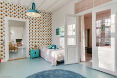 old colored floor