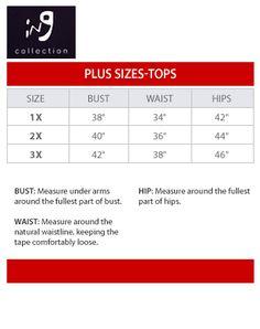 Julia jordan size chart brand name plus size charts for Alfani mens shirt size chart