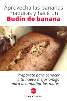 Baby Food Recipes, Sweet Recipes, Dessert Recipes, Healthy Recipes, Proper Nutrition, Health And Nutrition, Bananas, Pastry And Bakery, Sin Gluten