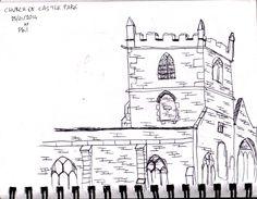 Castle Park's church, Bristol, UK