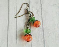 Naranja calabaza joyas de estilo Vintage Halloween por ShySiren