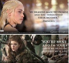 Game of Thrones; Daenarys and Ygritte