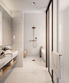 neutral bathroom bathroom, Great Minimalist Modern Bathroom Ideas - Home of Pondo - Home Design Contemporary Bathroom Designs, Bathroom Tile Designs, Bathroom Layout, Bathroom Interior Design, Small Bathroom, Bathroom Ideas, Bathroom Organization, Bathroom Mirrors, Bathroom Cabinets