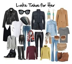 Lake Tahoe for Her by laurennmcwilliams on Polyvore featuring Yves Saint Laurent, STELLA McCARTNEY, T By Alexander Wang, Uniqlo, IRO, Mint Velvet, Frame Denim, Gucci, Ash and Dolce Vita