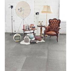 Vloertegel Terratinta Stone design 60x60x1 cm Ash 1,44M2