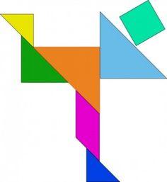 ATENCIÓN. Tangram. Organizar las piezas según el modelo.