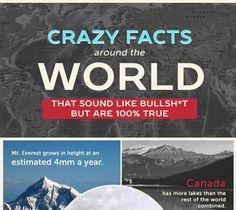 Infographic: Crazy Facts Around The World - DesignTAXI.com