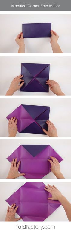The classic corner folder is folded in half to transform from a square to a…
