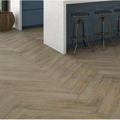 Wood Tile Kitchen, Wood Grain Tile, Wood Plank Tile, Wood Tile Floors, Bathrooms With Wood Tile, Outdoor Wood Tiles, Light Wood Flooring, Plank Tile Flooring, Best Flooring For Kitchen