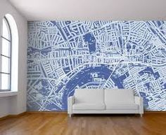 street maps painted on walls - Google Search