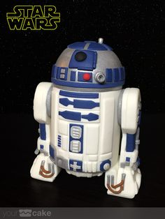 Your Cake. Star Wars: Tutorial R2-D2 fondant
