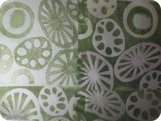 Gelatin Printmaking Experiment on Tissue Paper