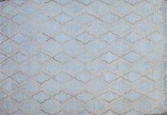 Modern Handmade Flat-weave Rug; 100% Lamb's Wool; Size 7' x 10'; Custom Order Available