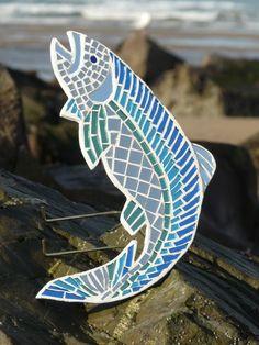 Blue Fish Mosaic