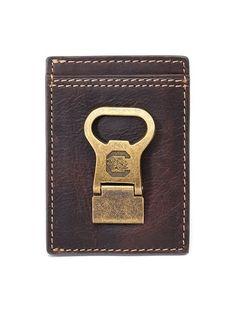 South Carolina Gamecocks Gridiron Mulitcard Front Pocket Wallet by Jack Mason