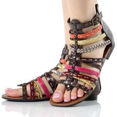 Casual flat gladiators ... Love all the different colors :)