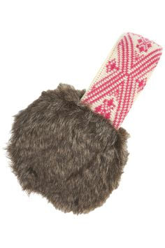 Printing Repeat Cloth Brown Colorful Art Winter Earmuffs Ear Warmers Faux Fur Foldable Plush Outdoor Gift