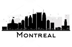 Montreal City skyline silhouette by@Graphicsauthor