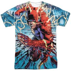 Flash: Ripping And Tearing Sublimated T-Shirt
