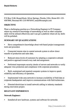 here is the free sample of networking engineer resume you can preview it here or. Resume Example. Resume CV Cover Letter