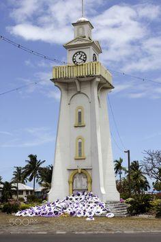 Samoa, Apia - South Pacific, Samoa, Upolu Island Apia clock tower