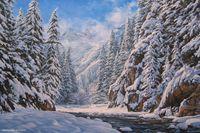 Alik Oleynik Online Art Picture Gallery. Paintings, Landscape, Mountains