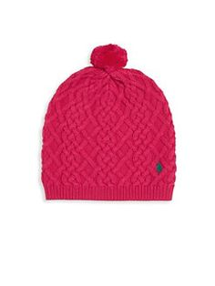 Ralph Lauren - Toddlers, Little Girl's & Girl's Slouchy Cable-Knit Beanie