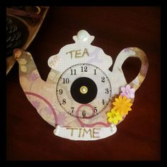 Tea time handmade clock.