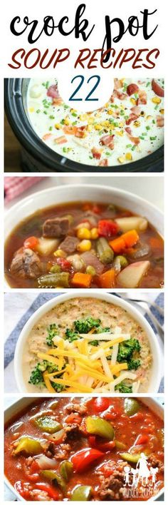 WINTER DINNER IDEAS, CROCK POT SOUP RECIPES FOR EASY FAMILY DINNERS #soup #crockpot #slowcooker #wundermom