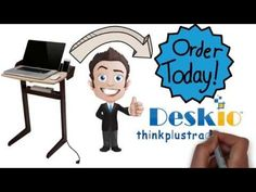 Computer Desk for Small Spaces from Deskio - YouTube