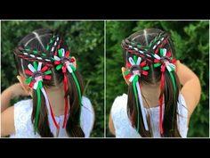 Peinado para niñas con ligas cruzadas|peinados faciles y rapidos de hacer para niñas|LPH - YouTube