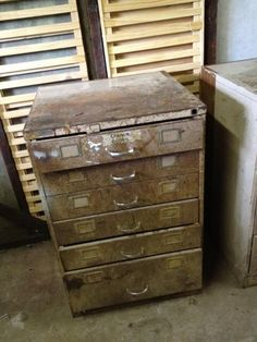 Vintage Industrial 6 Drawer Metal Cabinet Chest Filing Storage factory  #2 of 2