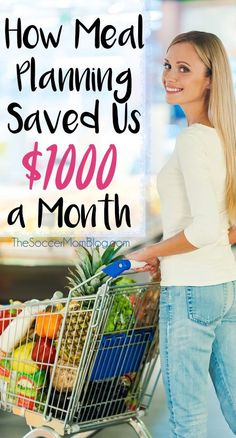 It sounds crazy, but we saved over $1000 every month when we started meal planning! Here's how we did it...and you can too! (Saving money, budget, frugal living)