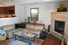 Living Room Design With Stone Fireplace Picture HQ