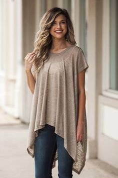 Sheer to Stay Top in Mocha