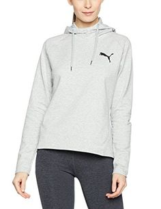 €13.08 in Gr. M / Puma Damen Active Ess Hooded Cover Up W Jacke, Light Gray Heather * Sportbekleidung Damen