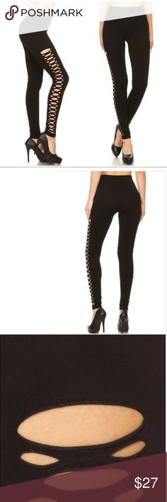 3PCS Solid Knit Seamless Leggings NEW Solid Knit high waisted Seamless legging with slashed pattern detail. Material: 61% viscose m,34% polyester,5% Spandex. Price is firm. I ship 3-5 days. 🍀WHOLESALE -3PCS -Select Size you need- 🍀 🗳I accept reasonable offers for single item. Pants Leggings