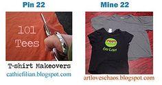 Pin 22 - t-shirt makeovers in progress  http://artloveschaos.blogspot.com/2012/01/pinterest-promise-2012-day-22.html