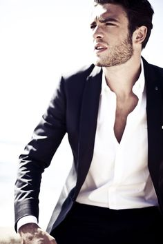 Comfortably unbuttoned...male chic