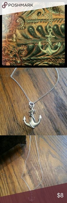 Necklace Cute and trendy anchor necklace with rope design going up it. Jewelry Necklaces