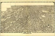 16x24 Poster; Birdseye View Map Of Atlanta Georgia 1919