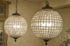 landelijke verlichting Hanglamp van kristal
