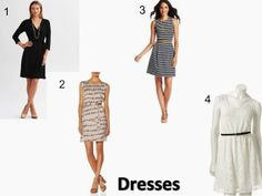 A Little Bit of WoWe : Teacher Wardrobe Staples [Part 2] This picture includes the dresses from the wardrobe basics list.