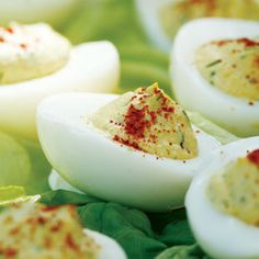 Healthy Deviled Eggs Recipe means that I can eat more than just Perfect :) Healthy Potluck, Healthy Picnic, Picnic Foods, Healthy Cooking, Healthy Snacks, Healthy Eating, Healthy Recipes, Picnic Recipes, Healthy Summer