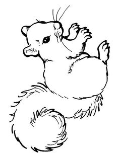 coloring page Squirrel on Kids-n-Fun. Coloring pages of squirrel on Kids-n-Fun. More than coloring pages. At Kids-n-Fun you will always find the nicest coloring pages first! Cool Coloring Pages, Animal Coloring Pages, Printable Coloring Pages, Adult Coloring Pages, Coloring Pages For Kids, Coloring Books, Fall Coloring, Squirrel Coloring Page, Motifs Animal