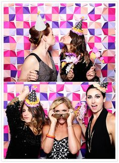 tomfoolery photobooth/ love the pops of color and how easy it would be to make that